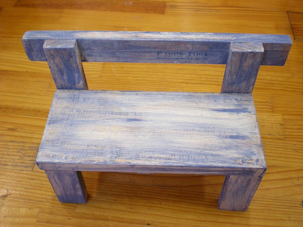 小さな椅子型の花台_建築端材_志宇知建設